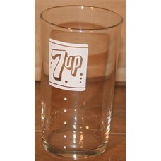 7-Up ACL Glass, Bubble Logo, 4.2 Inches Tall