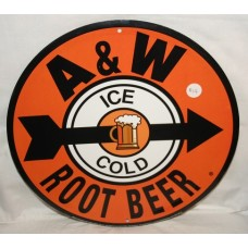A&W Rootbeer Sign, Round, 11 3/4 inch Diameter, NEW