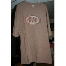 Brown A&W Root Beer T-Shirt, Size 2XL