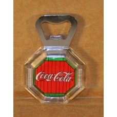 Coca-Cola Bottle Opener, Lucite With Red And Green Coca-Cola Logo
