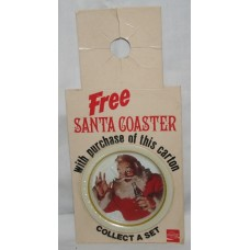 Coca-Cola Bottle Topper, FREE Santa Coaster With Purchase, Santa With Hand Up