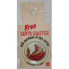 Coca-Cola Bottle Topper, FREE Santa Coaster With Purchase, Santa With Bottle, No Hat