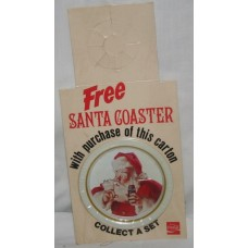 Coca-Cola Bottle Topper, FREE Santa Coaster With Purchase, Santa Shushing With Finger