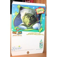 Cardboard Sprite Sign, Pole Mounted, How The Grinch Stole Christmas, 2000