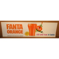 Paper Fanta Orange Channel Card Sign, Rich And True In Taste, 7 by 24 Inches