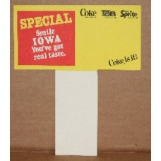 Coca-Cola Carton Insert - Smile Iowa - You've Got Real Taste