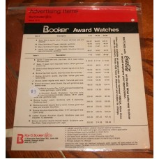 Booker Award Watches from Coca-Cola Price List