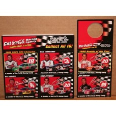 Coca-Cola Racing Family Collector Cards, Lot 1