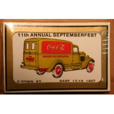1987 Coca-Cola Convention Playing Cards - 11th Annual Septemberfest, E-Town, Gold Truck