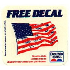 Double Cola Flag Decal