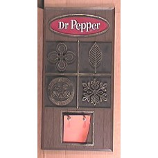 1960's Dr Pepper Calendar Pad Holder, RARE