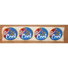 Lot of 4 Dr Pepper Stickers, Sip Into Something Cool