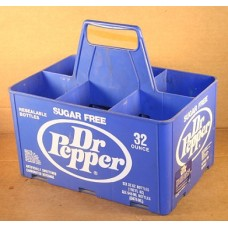 Sugar Free Dr Pepper Plastic Bottle Carrier, For 6 32 Oz Bottles, Excellent