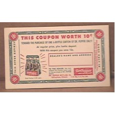 Coupon Postcard, Dr Pepper, 1940s/50s