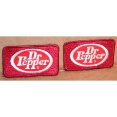 Pair of Dr Pepper Patches, Small Size, New