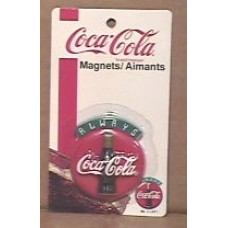 Magnet, Always Coca-Cola Button Sign With Bottle, On Card