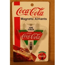 Magnet, Coca-Cola Sign, Drink Coca-Cola Ice Cold, With Arrow, On card