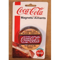 Magnet, Coca-Cola Sign, Please Pay When Served, On card