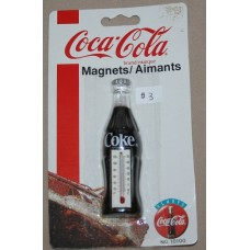 Magnet, Coca-Cola Bottle Thermometer, On Original Card