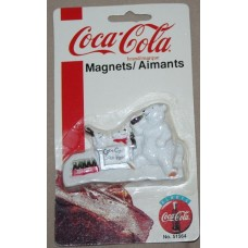 Magnet, Coca-Cola, Polar Bear With Cubs, Coca-Cola Sold Here