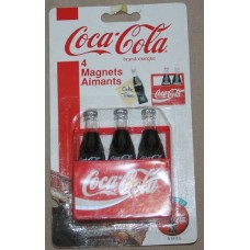 Magnet, Coca-Cola 3-Pack of Bottles, Script Coca-Cola on Carton and Bottles