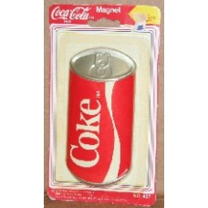 Magnet, Coca-Cola, Large Can, On Card