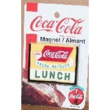 Magnet, Coca-Cola, LUNCH Sign, On Card