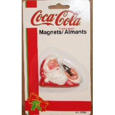 Magnet, Coca-Cola - Santa Holding Bottle Of Coke, On Card