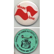 1960s Canada Dry, Share Love -- Pin