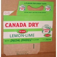 Canada Dry Hi-Spot Lemon Lime Carrier - Cardboard, 6-Pack, 12 Ounce Bottles, Red and Green