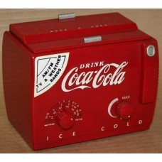 Coca-Cola Cooler Radio, Small Version, AM/FM/TV/Weather, Battery Operated