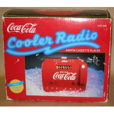 Coca-Cola Cooler Radio, Large Version, with Original Box, Tape not Working