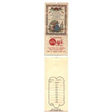 1950s Coca-Cola Bridge Tally Card - #21 - Gingham Border with Girl