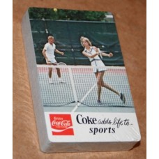 1980s Coca-Cola Playing Cards - NOS, Coke Adds Life To..Sports, Tennis With Court in Background