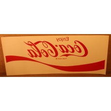 Coca-Cola Water Release Decal For Coke Machines, Coca-Cola Wave Logo, 5.5 by 13.5 Inch, NEW and Unused