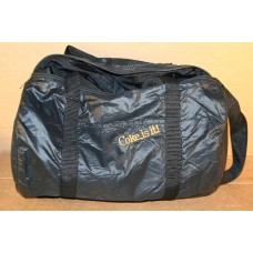 Coca-Cola Duffel Bag, Shiny Black Nylon With Embroidered Coke Is It Logo