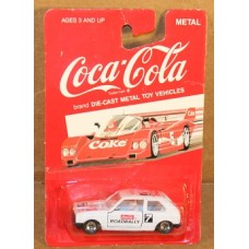 Coca-Cola 1:64 Scale Car, #7 Road Rally, New on Card